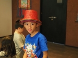 Ayden making a post with the stylish hat. Lin Mun KSDS