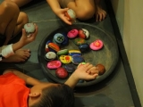 Students collecting the art stone done by them. Lin Mun KSDS