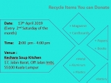 Kechara Soup Kitchen and Kechara Earth Project will be having our monthly recycling activity this Saturday. All are welcome to drop the recycleable items or to volunteer with us. Thank you very much in advance. #recycle #reduce #reuse #savetheplanet - Vivian @ Kechara Soup Kitchen