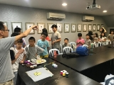 Teacher Kien showed the students on how to make mala. Alice Tay, KSDS