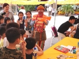 Happy kids at Kechara Wesak Day ~ KSDS kid's corner。By ksds Asyley Chia