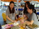 Preparation getting done at kid's corner for Wesak event at Kechara Forest Retreat by KSDS Asyley Chia