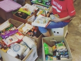 We would like thank Esther for helping us with stock taking in our Foodbank today. - Vivian @ Kechara Soup Kitchen