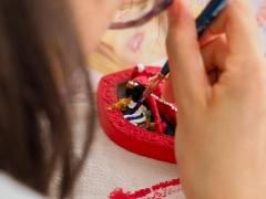 Tsa tsa painting during recent Wesak Day in KFR. Lin Mun KSDS