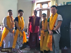 Kecharians with Gen Kunga of Trisur Ladrang