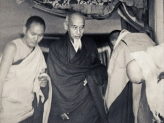 His Holiness Kyabje Zong Rinpoche with Lama Yeshe