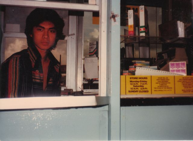 Working in the Fotomat booth. I had all kinds of jobs when I was in Los Angeles, and often held more than one job at a time, to make sure I earned enough otherwise I would be homeless again.