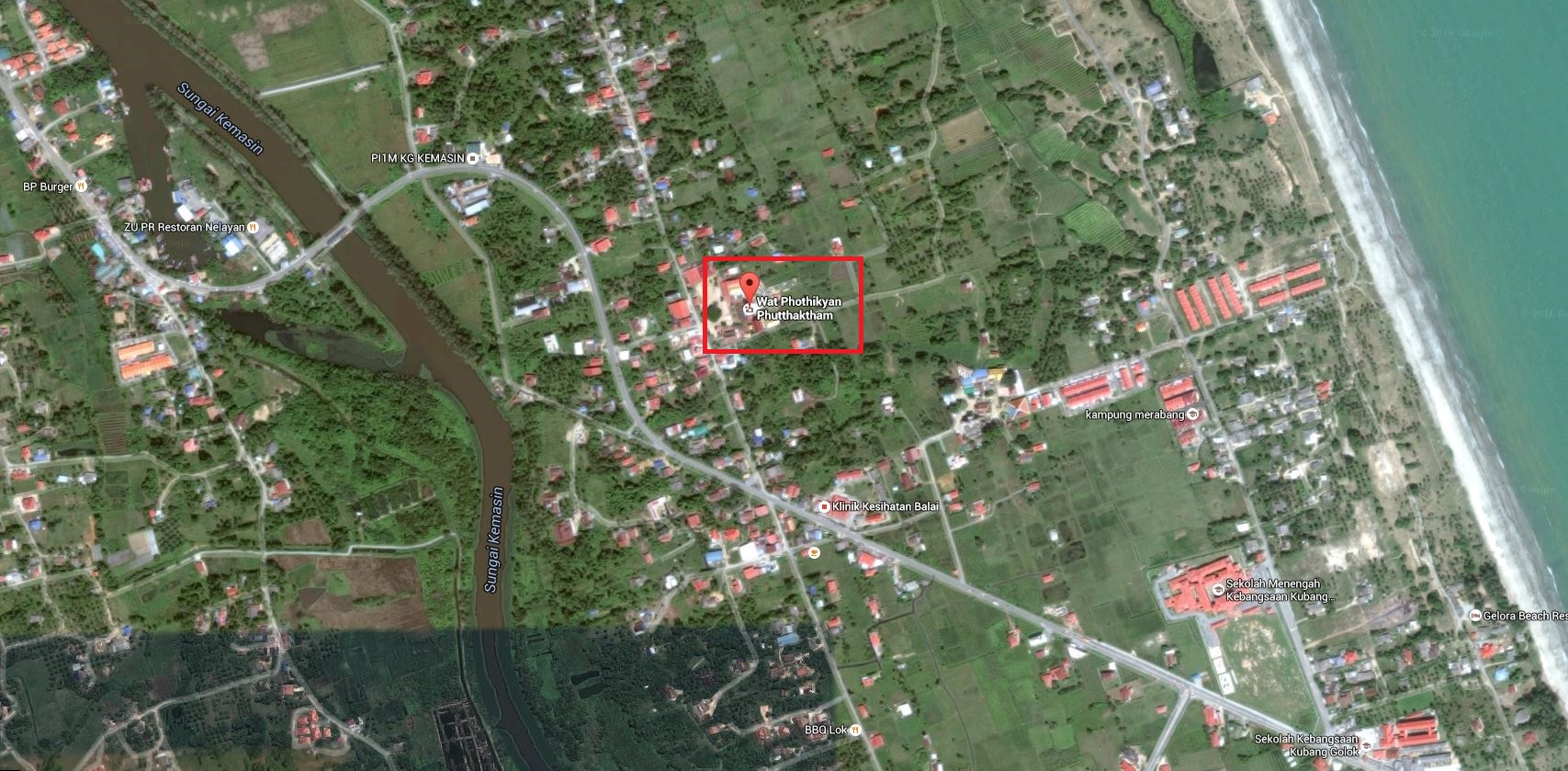 The location of Wat Phothikyan Phutthaktham. Click on image to enlarge.