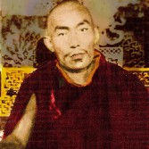 A colourised image of Kentrul Thubten Lamsang. Back when photography was rare and very expensive, only significant personages had the privilege of having their photographs taken. Kentrul Thubten Lamsang was signficant enough to have sat for an official portrait.