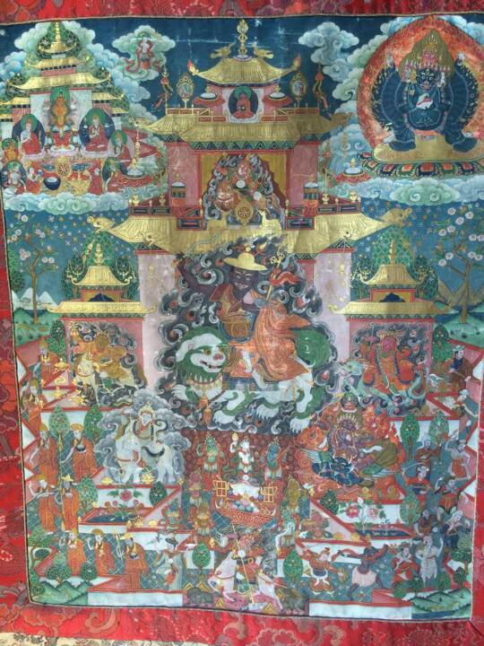 This is the sacred Dorje Shugden thangka that was in the private altar of Sokpu Rinpoche Guru Deva for decades. I had a chance to see this and pay homage. He worshipped Dorje Shugden together with Kalarupa as his primary protectors. Click on image to enlarge.
