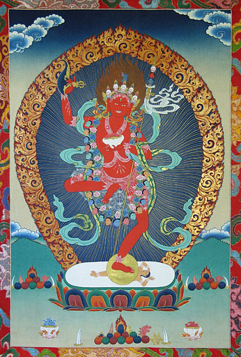 Vajravarahi – the wrathful emanation of Vajrayogini.