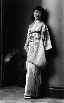 Harumi Setouchi (Harumi was her name before she became a nun) at age 20 in 1942.