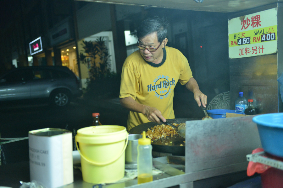 The sizzling hot fried radish cake was a must-try