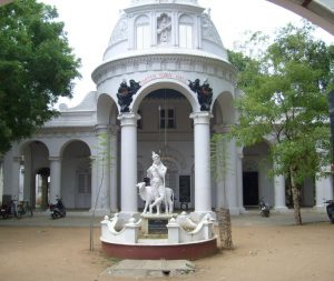 Porter Town Hall in Kumbakonam where Ramanujan would have sat for examinations while at Kangayan Primary School.