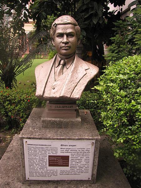 Bust of Srinivasa Ramanujan at Birla Industrial & Technological Museum.