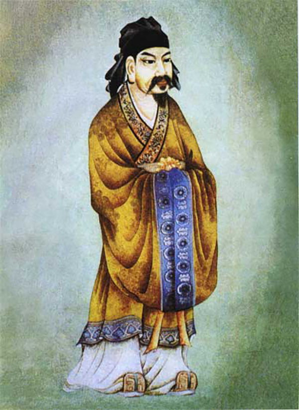 An artist's portrayal of Wu Zixu, Duke of Shen