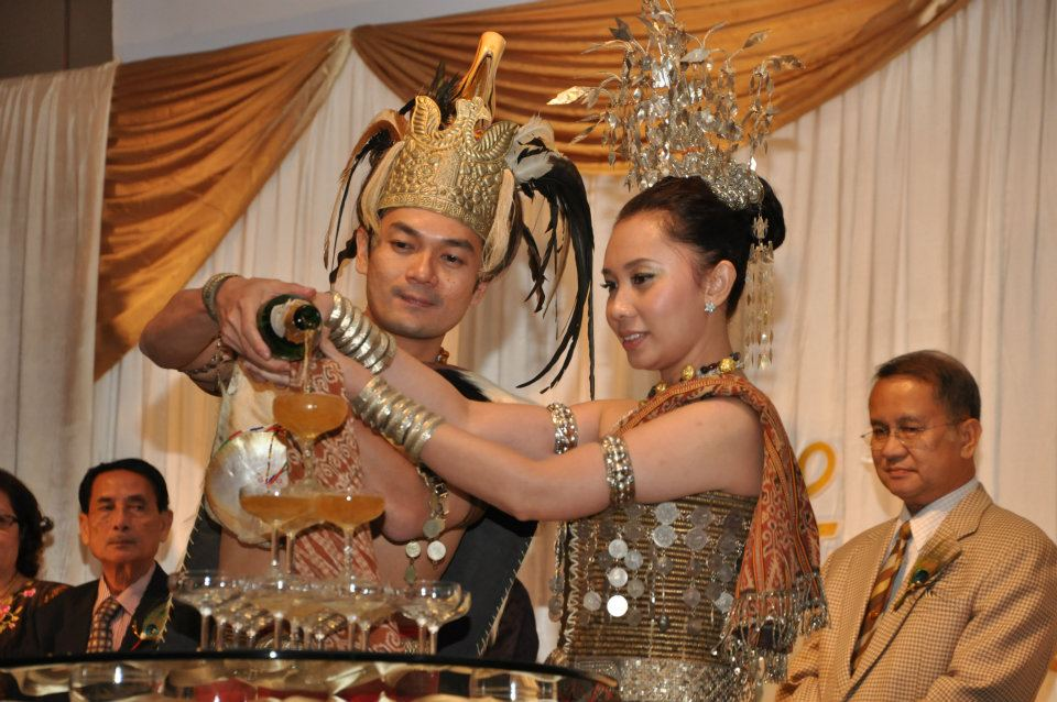 Many Dayak weddings often take place during the Gawai Dayak month