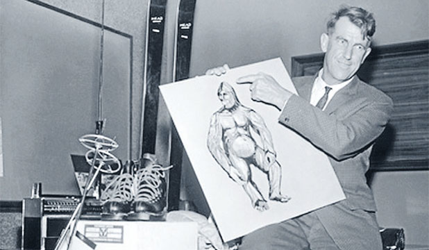 Sir Edmund Hillary, the first man to reach the summit of Mount Everest, holds an artist's impression of the Yeti. Sir Edmund Hillary famously believed in the existence of the Yeti, even launching expeditions solely dedicated to finding one.