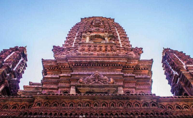 The Mahabouddha Stupa is a scaled down replica of the great Mahabodhi Stupa at Bodhgaya, India.