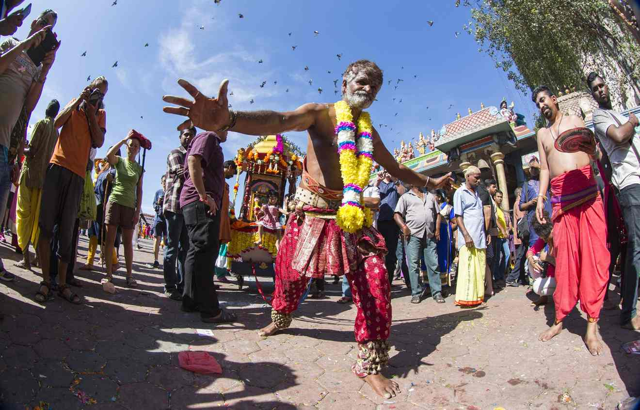 Devotees of all ages take part in the Thaipusam festival