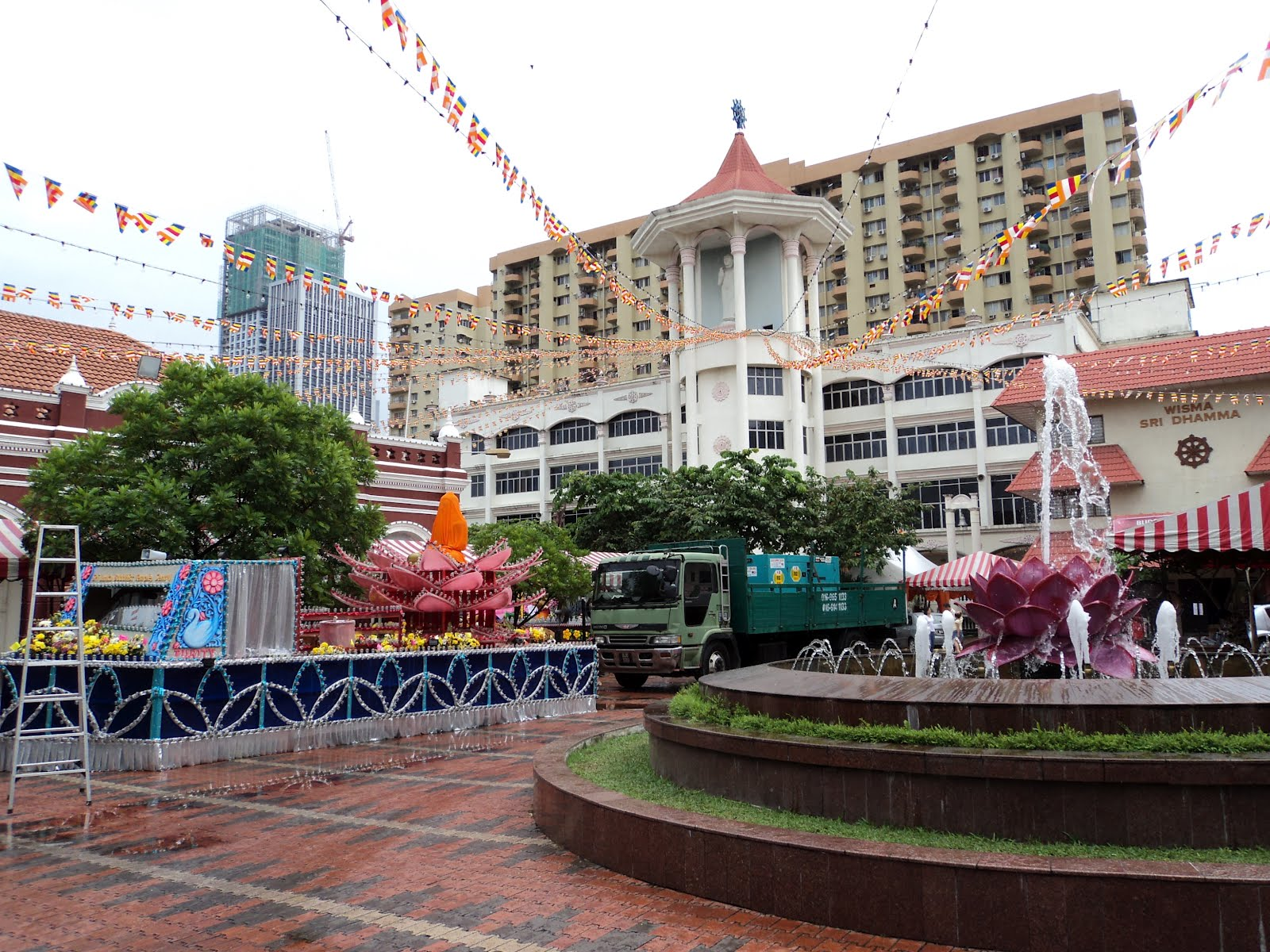 Buddhist Maha Vihara Temple in preparation for Wesak Day