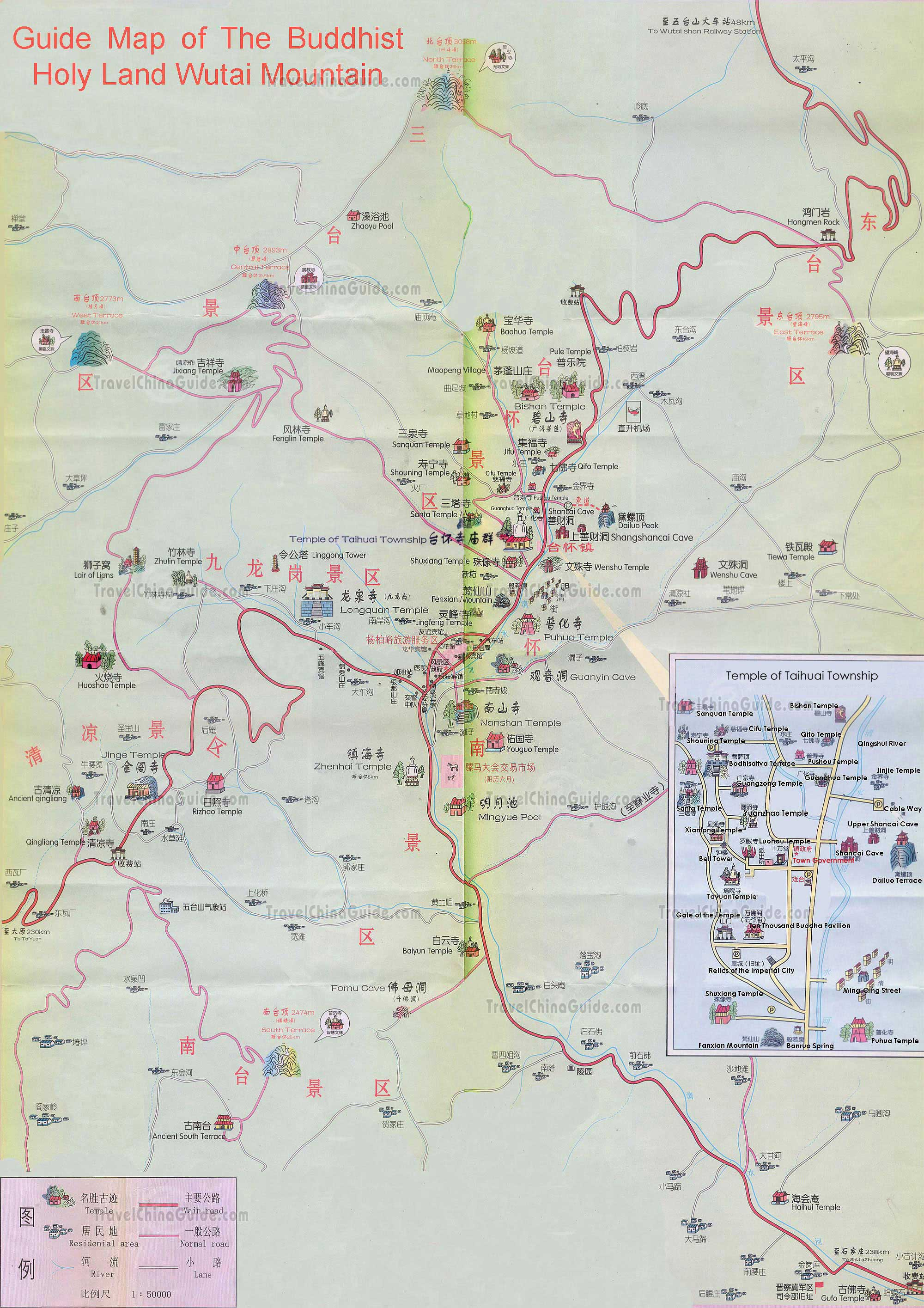The Map of Mount Wutai