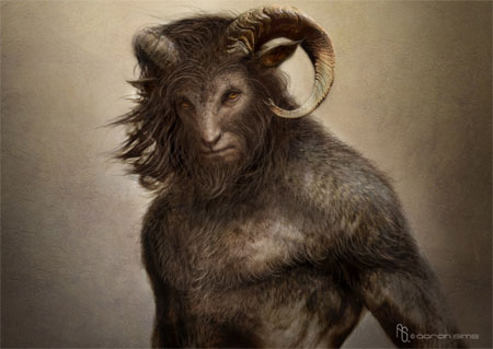 The Goatman, with reported sightings as far back as 520 BC