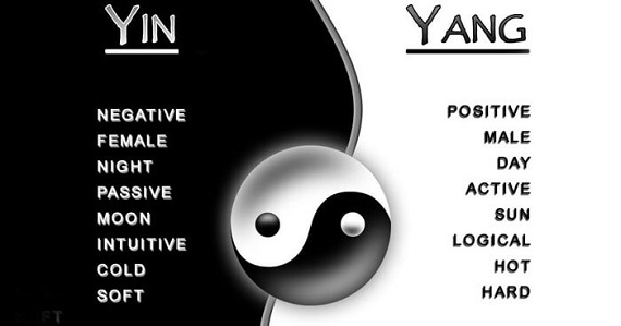 Chi is made up of two kinds of forces, yin and yang