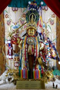 The Dorje Shugden oracle statue in Kechara Forest Retreat, Malaysia