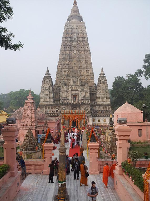 The Magnificent Mahabodhi Stupa.