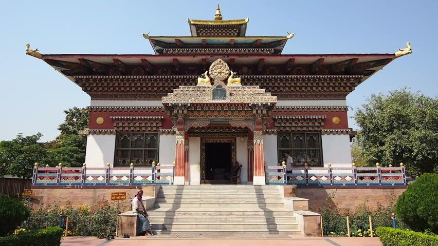 The beautiful exterior of the Royal Bhutanese Monastery.