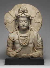 An ancient carving of Prince Siddhartha.