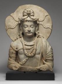 An ancient carving of Prince Siddhartha.