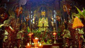 A Jade Emperor's altar in a temple