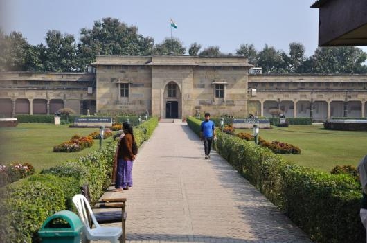 The Sarnath Archaeological Museum houses the famous Ashokan Lion Capital and a very refined image of Buddha in Dharmachakra-posture