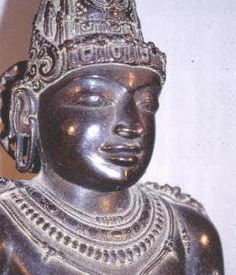 Raja Raja Chola I, the Chola invader who caused destructions to many Buddhist monuments in the present-day Sri Lanka.