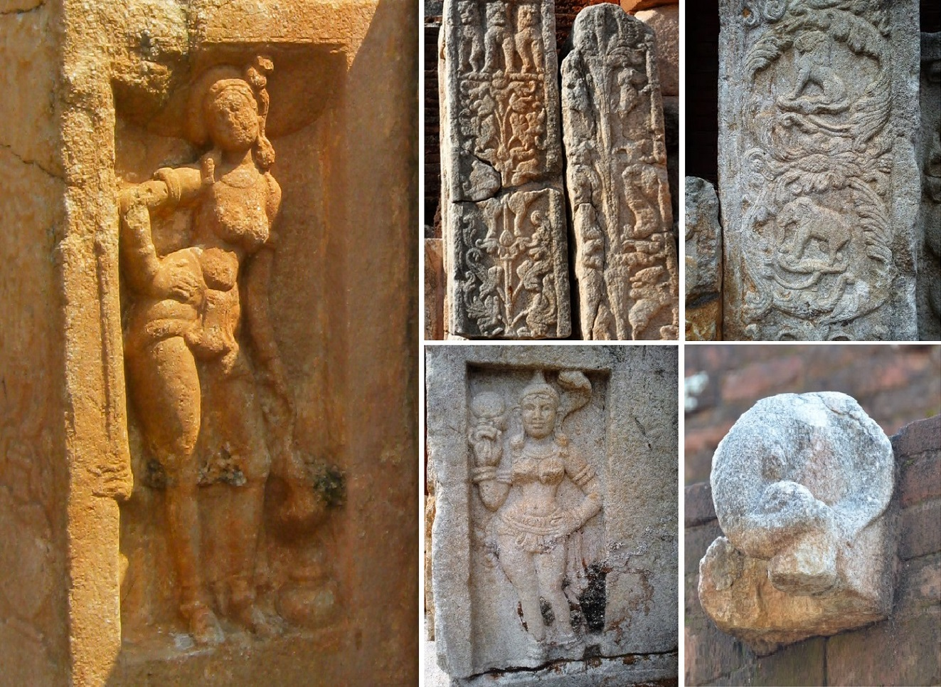 Various carvings on vahalkada.