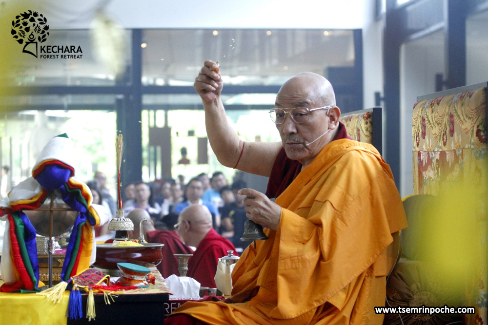 Kensur Rinpoche also performed a soongdroop and rabney consecration puja for all of the statues and images throughout the Kechara Forest Retreat land.