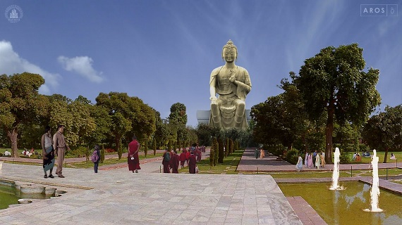 Artist's impression of the Kushinagar Maitreya Project