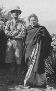 EW_Walter Evans-Wentz, and English Quaker nurse, Barbara Bruce, in India circa 1940-08