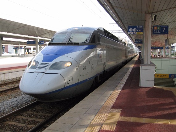 KTX high-speed train is the best way to travel around Korea