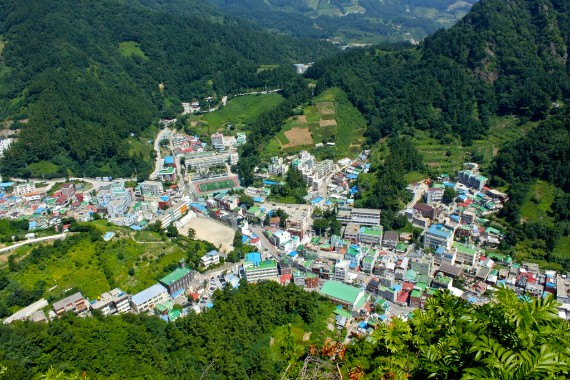 Dodong - the administration centre of Ulleungdo is the biggest city on the island