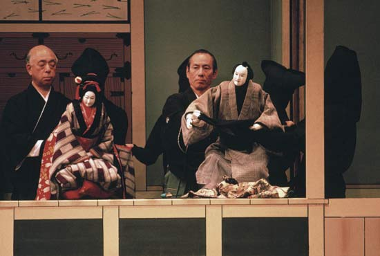 Bunraku performance in Osaka