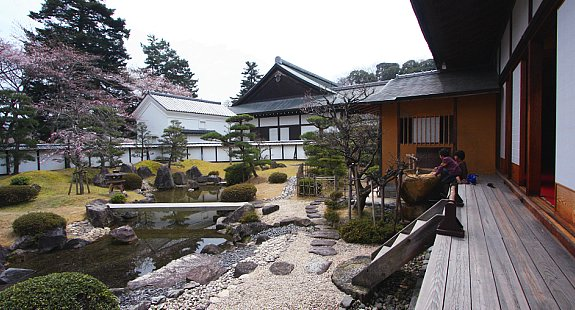 Reconstructed palace buildings in Hikone Castle Museum