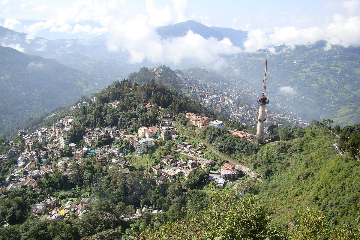 A recent picture of Gangtok, Sikkim – Kazi Dawa Samdup was the headmaster of Bhutia Boarding school in Gangtok, Sikkim