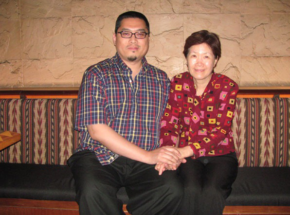 This is me reuniting with Kuan Mama 36 years later! Can you imagine? I didn't meet this lovely person for that long. I looked for her and found her. My student Irene did extensive research and found her for me. I was so glad to have found her. I thank Irene so much. I thank Kuan Mama so much for being kind to a child that experienced very little kindness living in Taiwan. I cannot express the amount of gratitude I feel toward Kuan Mama as it is beyond words.