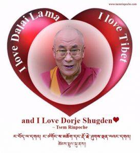I love Dalai Lama