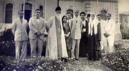 Rabindranath with King Faisal of Iraq and King Ali of Hejaz