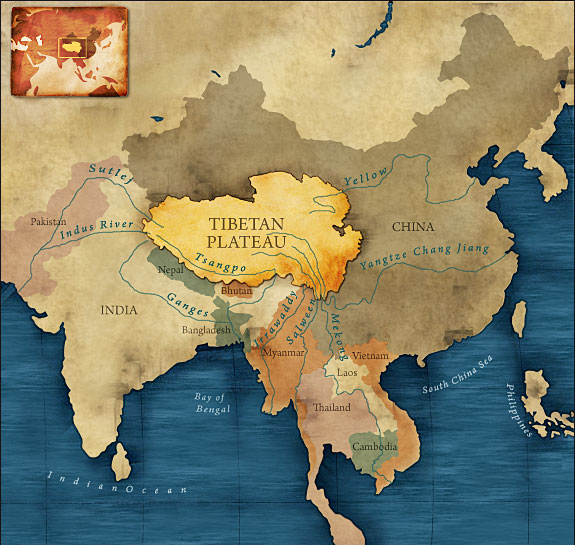 The Indian sub-continent is no stranger from countries splitting due to religious differences. India and Pakistan used to be a singular country, but separated due to religious differences. Should Tibet be split into two, since the Tibetan leadership do not want to integrate Dorje Shugden pracitioners into mainstream Tibetan culture? Click to enlarge.