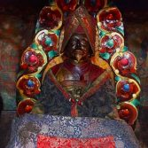 An old statue of Tsarchen Losal Gyatso at Thubten Gephel Monastery in Lhatse, Shigatse, Tibet